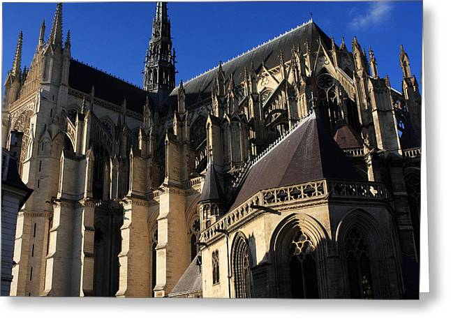 Somme Greeting Cards - The Cathedral Basilica -  Amiens - France Greeting Card by Aidan Moran