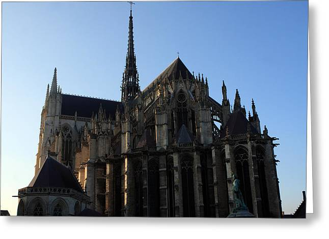 Amiens Greeting Cards - The Cathedral Basilica Of Our Lady Of Amiens Greeting Card by Aidan Moran