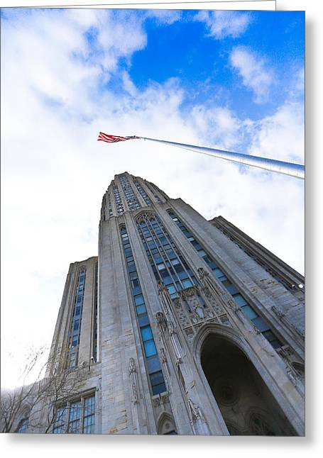 The Cathedral Of Learning 4 Greeting Card by Jimmy Taaffe