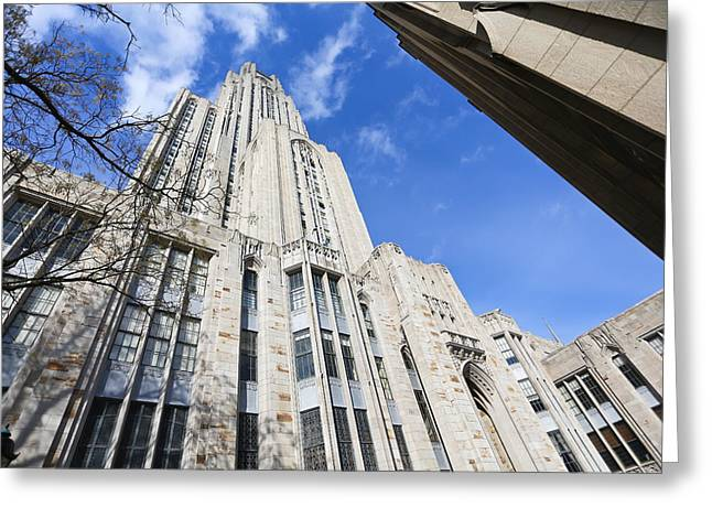 The Cathedral Of Learning 5 Greeting Card by Jimmy Taaffe