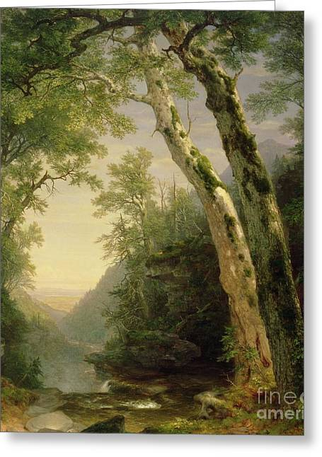 Stream Greeting Cards - The Catskills Greeting Card by Asher Brown Durand