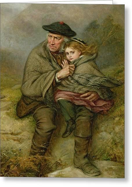 Granddaughter Greeting Cards - The Cauld Blast, 1876 Greeting Card by Joshua Hargrave Sams Mann