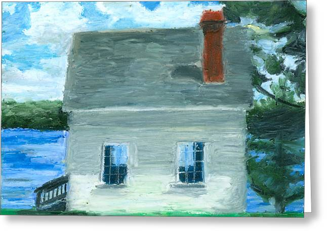 The Caulker's Shed Greeting Card by Dominic White