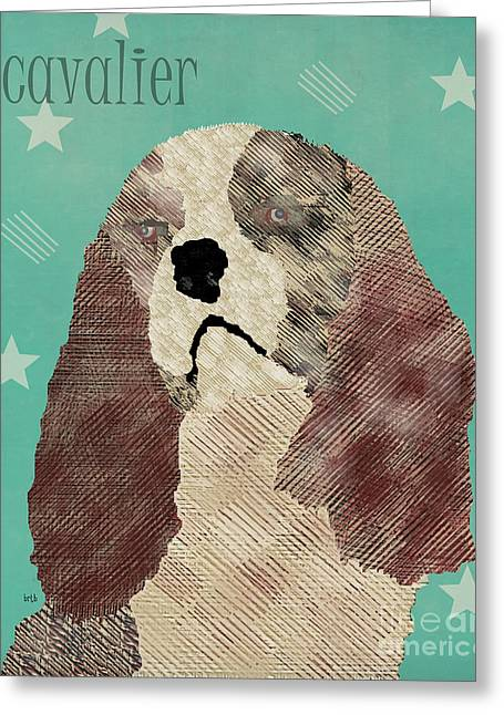 Spaniel Digital Art Greeting Cards - The Cavalier Dog  Greeting Card by Bri Buckley