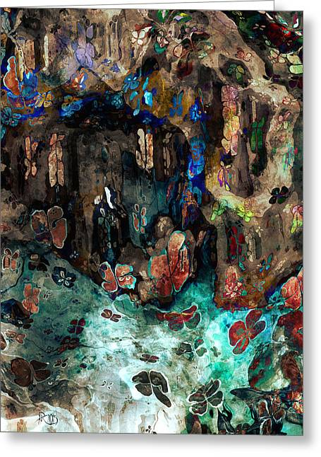 Algorithmic Abstract Greeting Cards - The Cave Greeting Card by Kim Redd