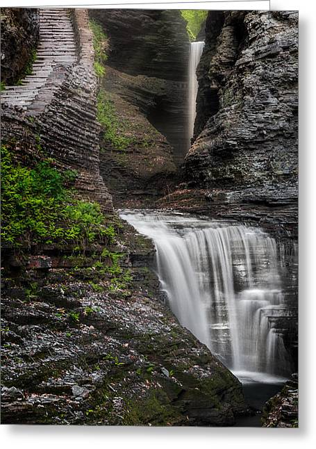 Ethereal Waterfalls Greeting Cards - The Cavern Greeting Card by Bill  Wakeley