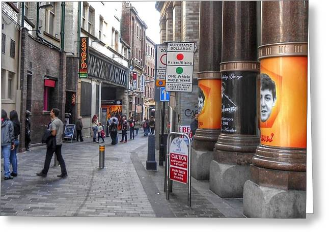 The Cavern Club At Mathew Street Greeting Card by Joan-Violet Stretch