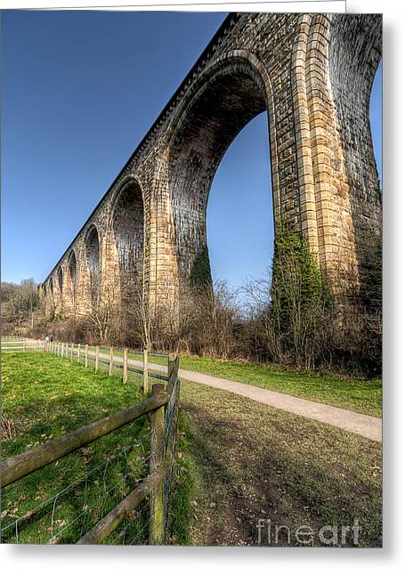 Brassey Greeting Cards - The Cefn Mawr Viaduct Greeting Card by Adrian Evans