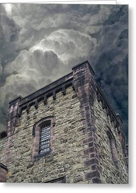 Williamsport Greeting Cards - The Cell Block Restaurant Greeting Card by Greg Reed