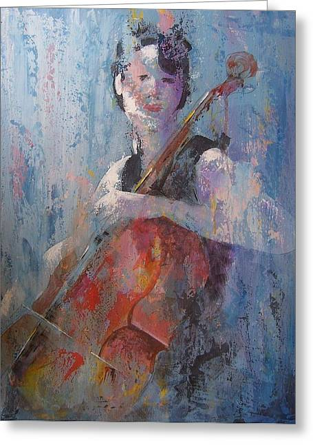 Cello Greeting Cards - The Cello Greeting Card by John Henne