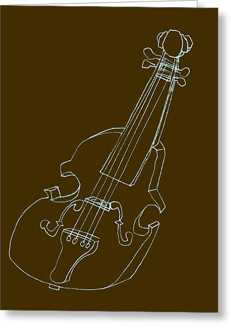 Pastimes Greeting Cards - The Cello Greeting Card by Michelle Calkins