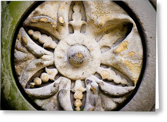 Carved Stone Greeting Cards - The Central Park Medallion Greeting Card by Lisa Russo