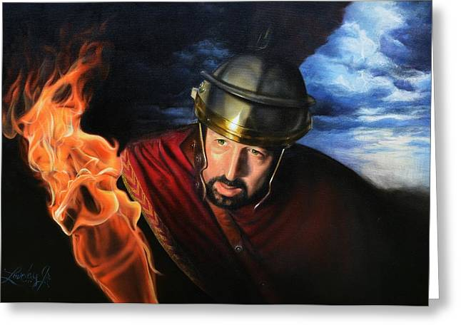 Bible. Biblical Greeting Cards - The Centurion Greeting Card by James Loveless