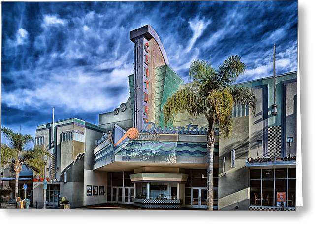 Ventura California Greeting Cards - The Century Theatre Greeting Card by Mountain Dreams
