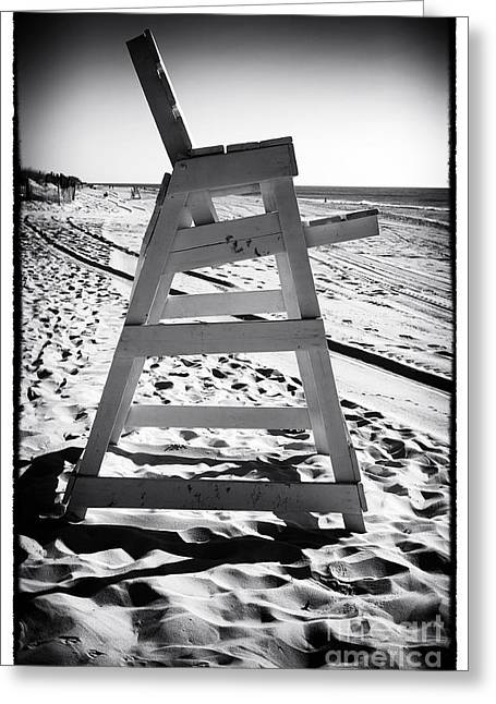 The Chair At Lbi Greeting Card by John Rizzuto