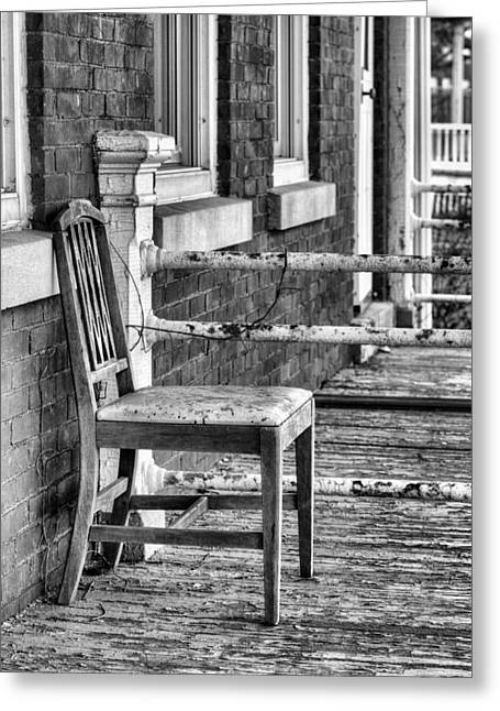 New Thoughts Greeting Cards - The Chair BW Greeting Card by JC Findley