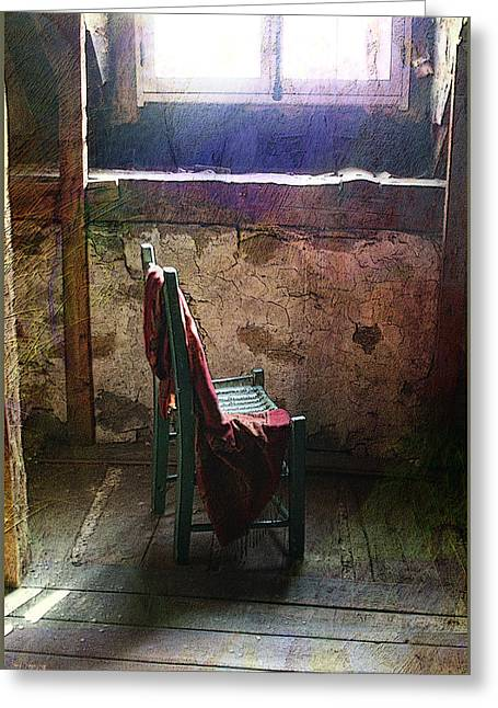 Interior Still Life Mixed Media Greeting Cards - The chair Greeting Card by Julika Winkler