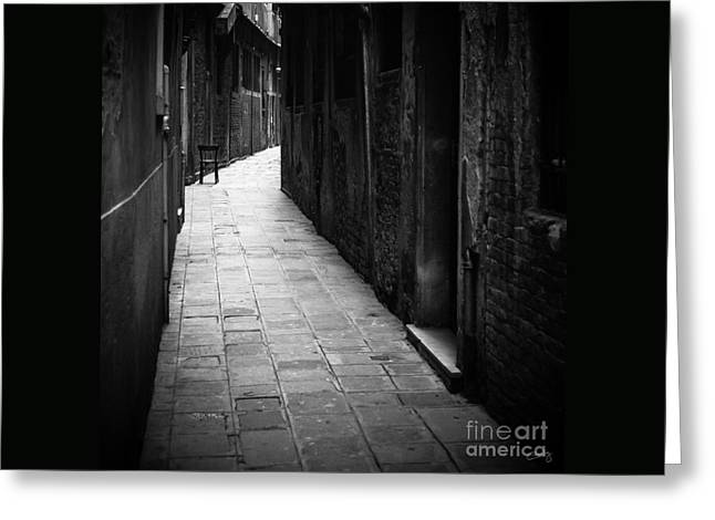 Film Noir Greeting Cards - The Chair Greeting Card by Prints of Italy
