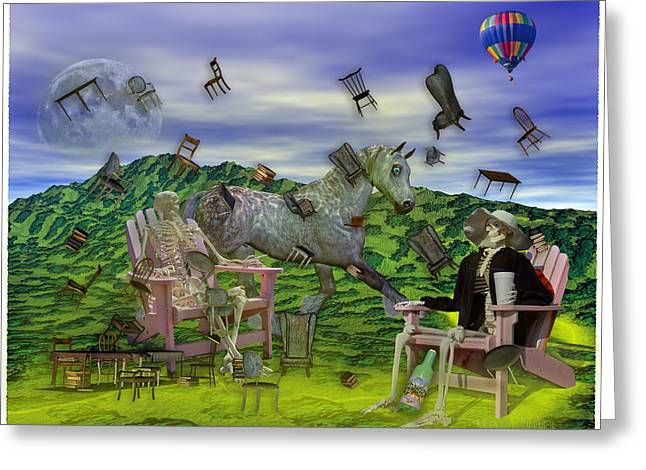 The Chairs Of Oz Greeting Card by Betsy Knapp