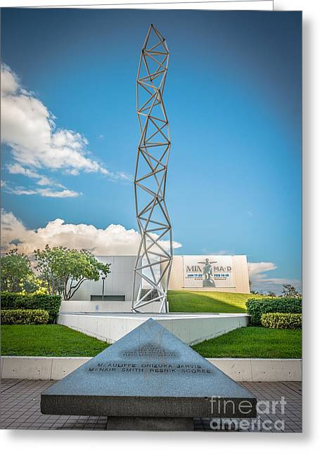 The Challenger Greeting Cards - The Challenger Memorial 2 - Bayfront Park - Miami Greeting Card by Ian Monk