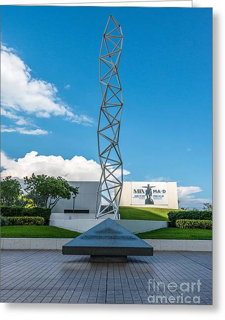 The Challenger Greeting Cards - The Challenger Memorial - Bayfront Park - Miami Greeting Card by Ian Monk