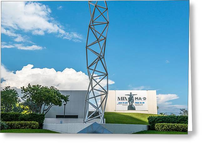 The Challenger Memorial - Bayfront Park - Miami Greeting Card by Ian Monk