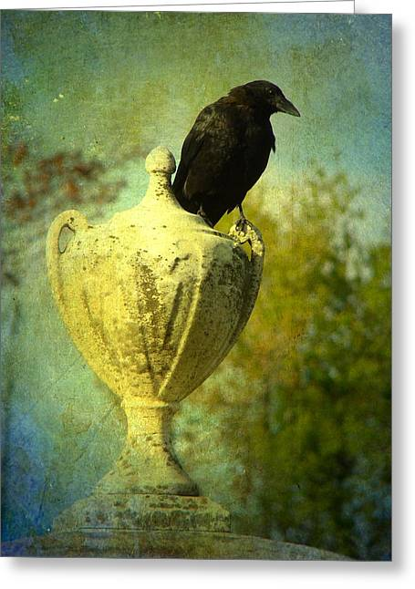 Crow Image Greeting Cards - The Champion Greeting Card by Gothicolors Donna Snyder