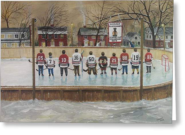 Nhl Winter Classic Greeting Cards - The Champs - 2013 Stanley Cup  Greeting Card by Ron  Genest