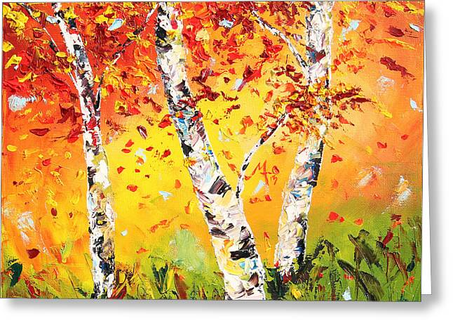 Fall Trees Greeting Cards - The Change Greeting Card by Meaghan Troup