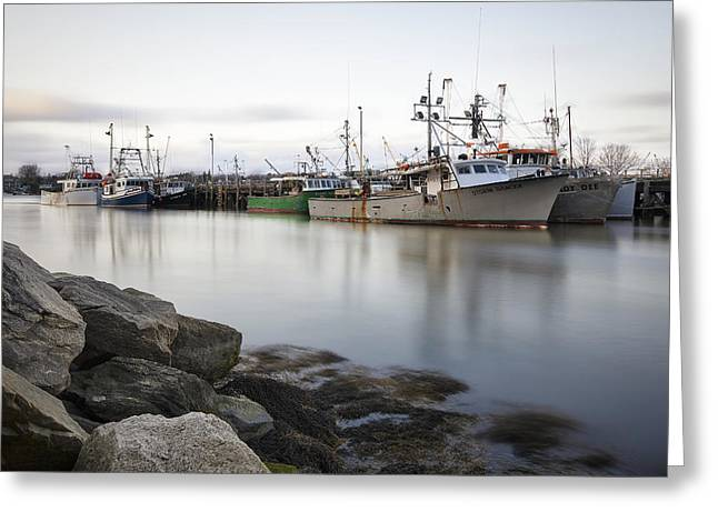 New England Village Greeting Cards - The Changing Tides Greeting Card by Eric Gendron