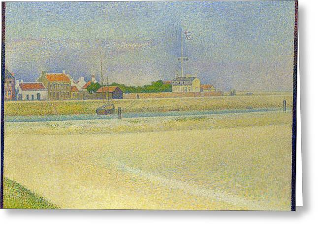 Seurat Greeting Cards - The Channel of Gravelines Greeting Card by Georges Seurat
