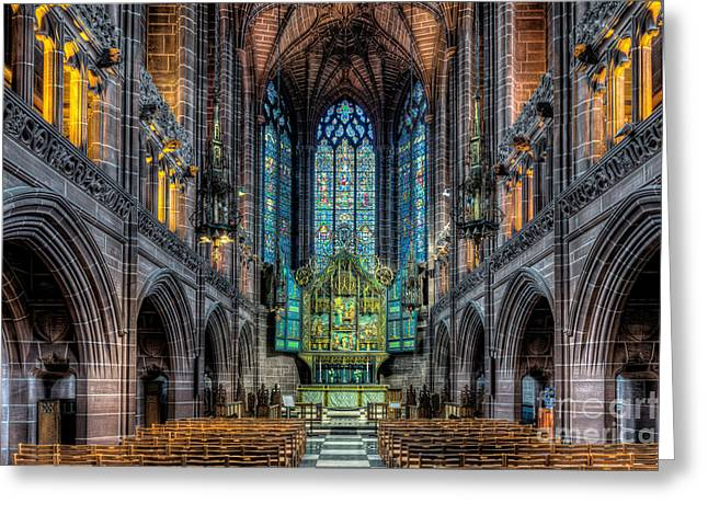 Religious Digital Greeting Cards - The Chapel Greeting Card by Adrian Evans