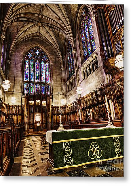 Duke Photographs Greeting Cards - The Chapel at Duke Greeting Card by Emily Enz
