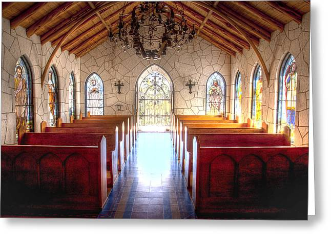 Mo Ranch Greeting Cards - The Chapel Greeting Card by Paul Huchton