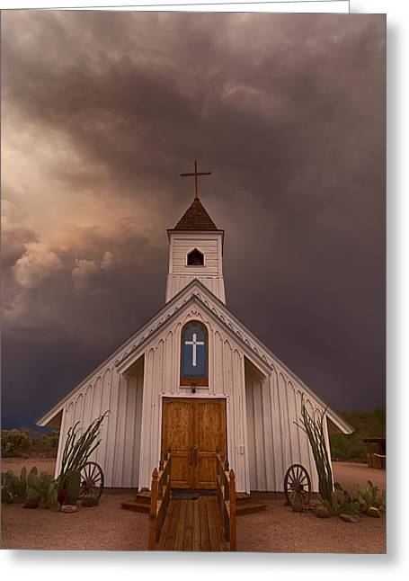 The Superstitions Greeting Cards - The Chapel  Greeting Card by Saija  Lehtonen