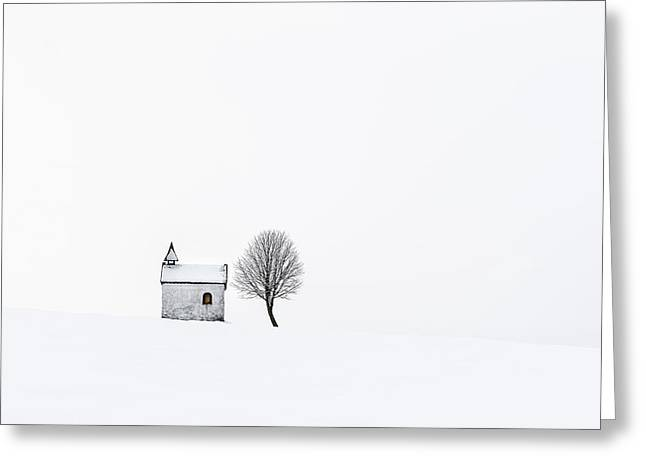 The Chapel Greeting Card by Tom Meier