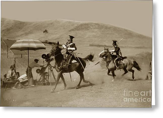 Brigade Greeting Cards - The Charge of the Light Brigade 1936 Greeting Card by California Views Mr Pat Hathaway Archives