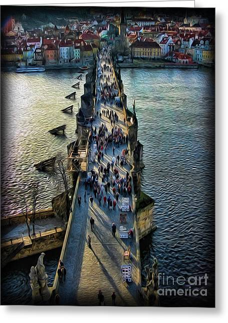 St Charles Bridge Greeting Cards - The Charles Bridge Greeting Card by Lee Dos Santos