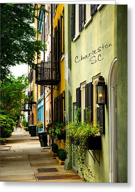Vacation Spots Greeting Cards - The Charm Of Charleston Greeting Card by Karol  Livote