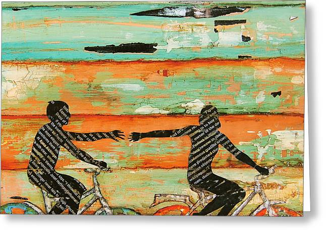 Nostalgic Mixed Media Greeting Cards - The Chase Greeting Card by Danny Phillips