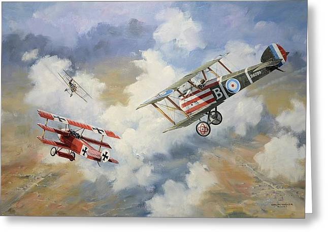 Ww1 Greeting Cards - The chase is on Greeting Card by Colin Parker