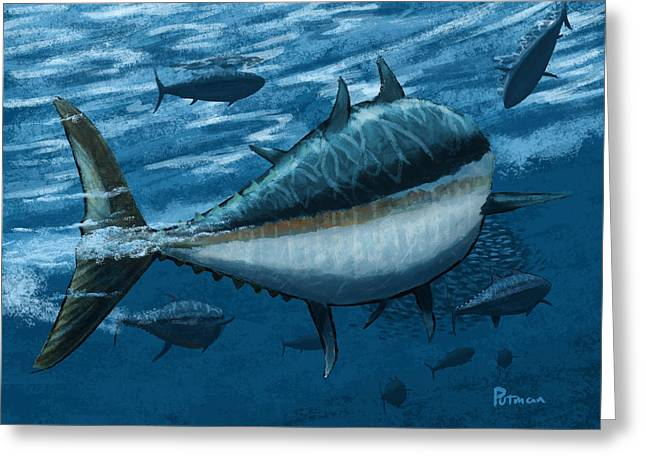 The Chase Greeting Card by Kevin Putman