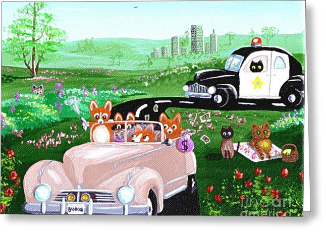 The Chase Greeting Card by Lisa  Adams