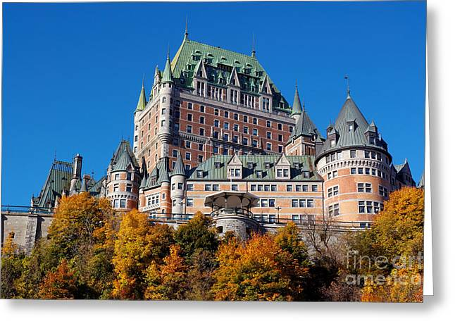 Chateau Greeting Cards - The Chateu Frontenac Greeting Card by Colin Woods