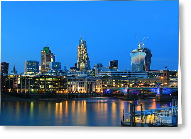 20 Greeting Cards - The Cheesegrater and the Walkie Talkie Greeting Card by Jasna Buncic