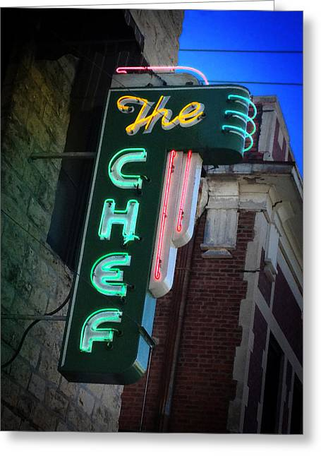 Top Seller Greeting Cards - The Chef Greeting Card by Rod Seel