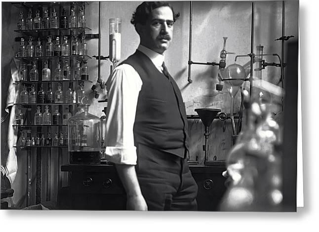 Chemist Digital Art Greeting Cards - The Chemist - 1912 Greeting Card by Daniel Hagerman