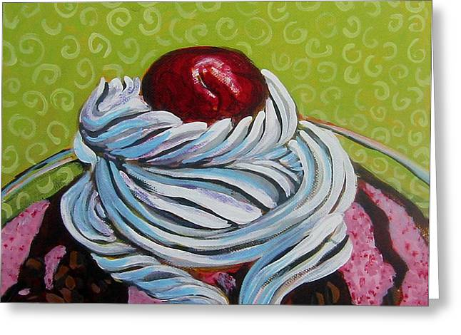 The Cherry on Top Greeting Card by Tilly Strauss