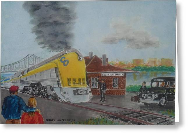 The Chesapeake And Ohio George Washington At South Portsmouth Station Greeting Card by Frank Hunter