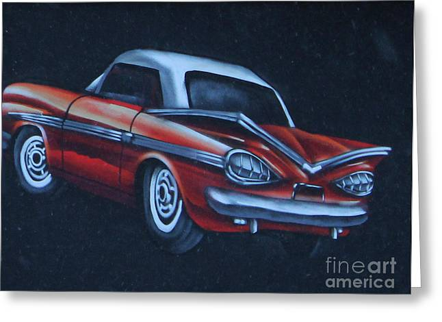 Red Chev Greeting Cards - The Chev Greeting Card by Steven Parker